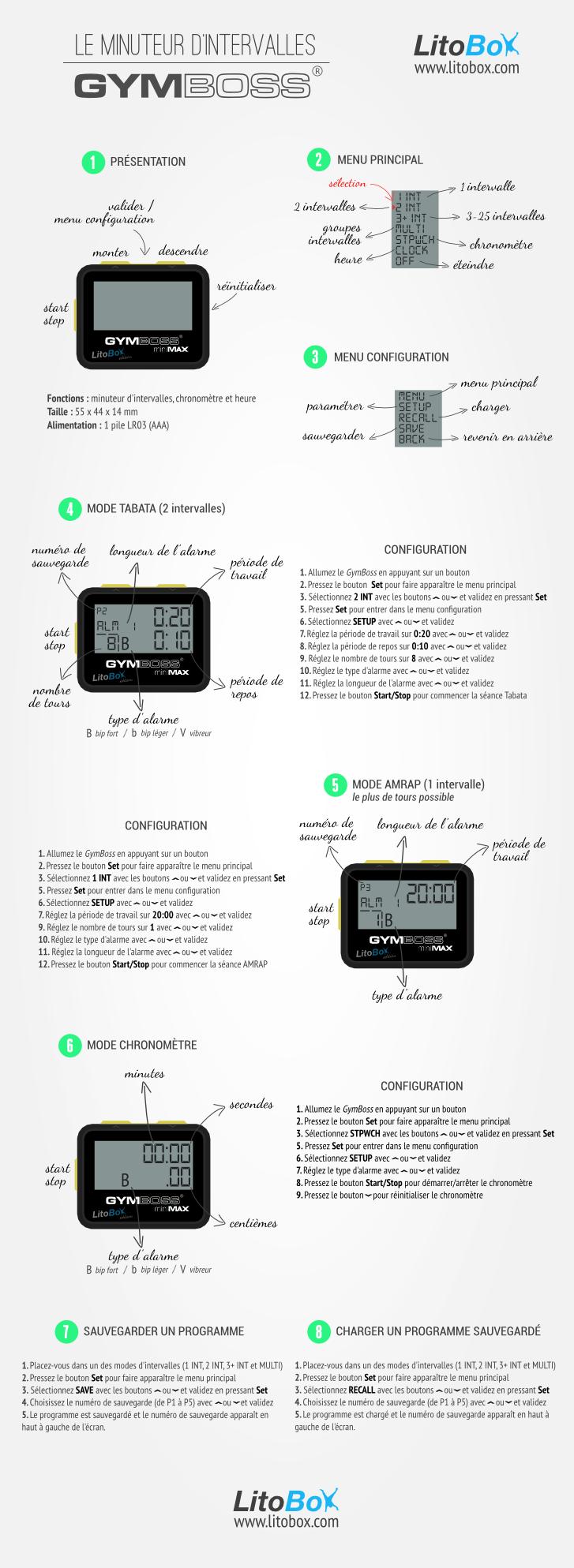 GymBoss mode d'emploi en 8 étapes