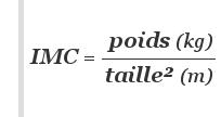 calcul de l'IMC