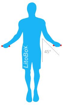 Position correct pour sauter à la corde
