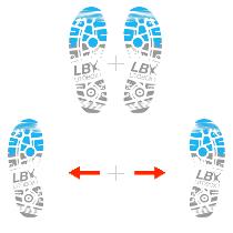 Side straddle ou les pieds écartés