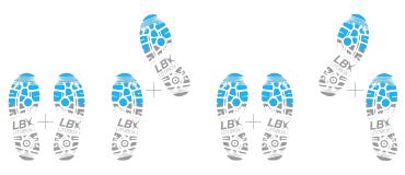 X foot cross ou les pieds croisés