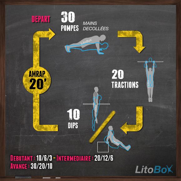 Séance de musculation au poids du corps de 20 minutes où l on travaille  principalement les muscles du haut du corps à travers 3 exercices   les  pompes avec ... 495a12e7ebe
