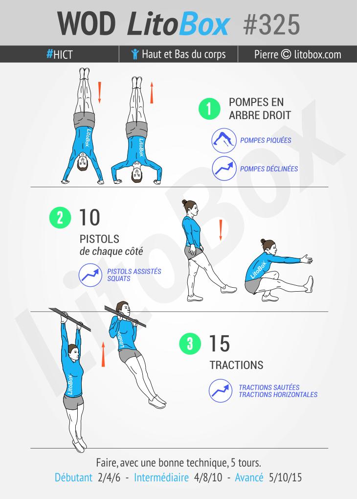 Circuit training au poids du corps #325