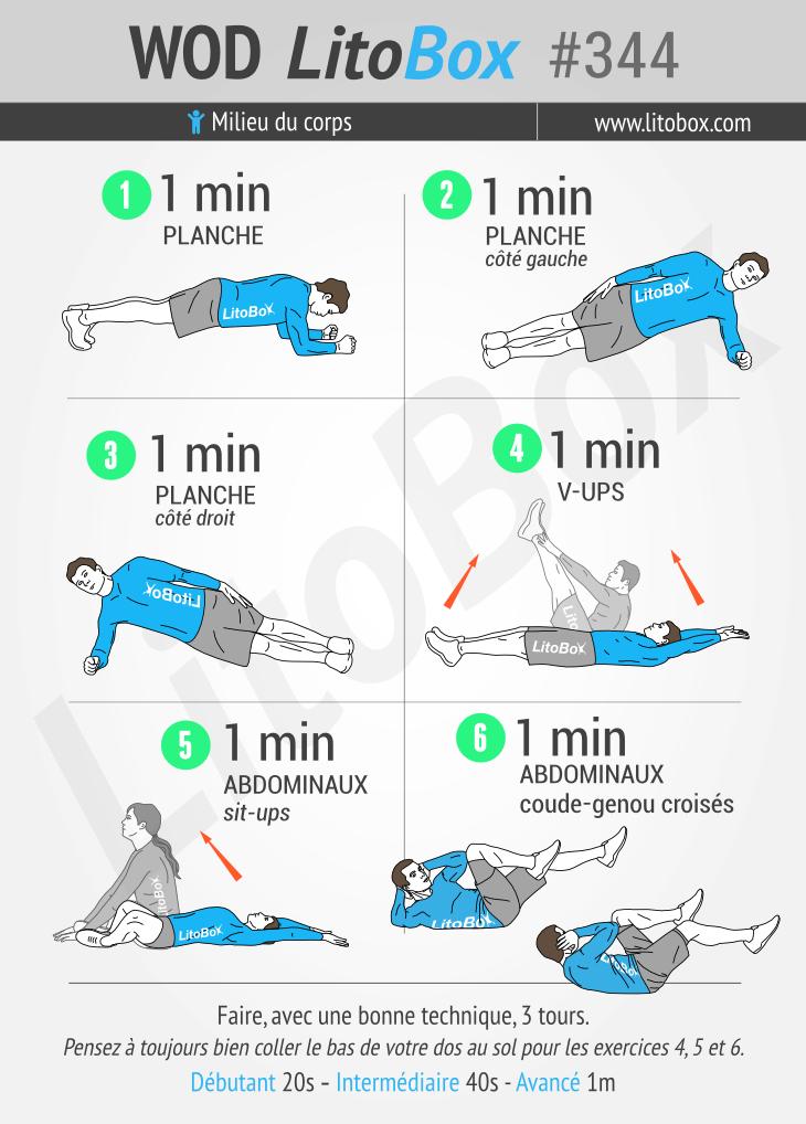 Exercices sans matériel pour les abdominaux #344