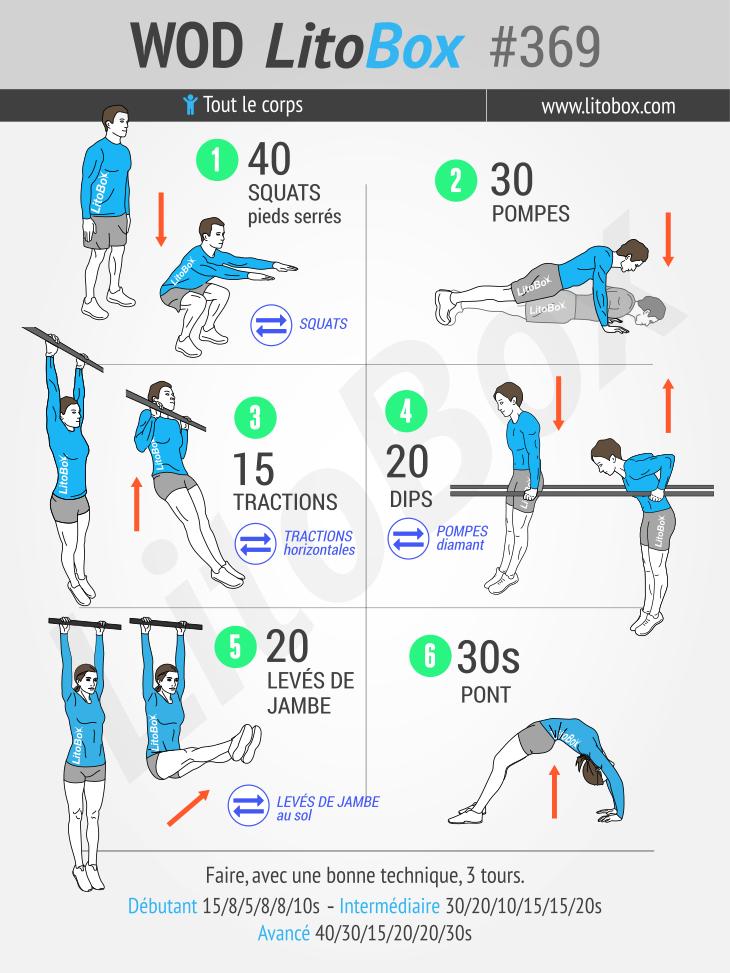 Musculation au poids du corps : entraînement de base #369