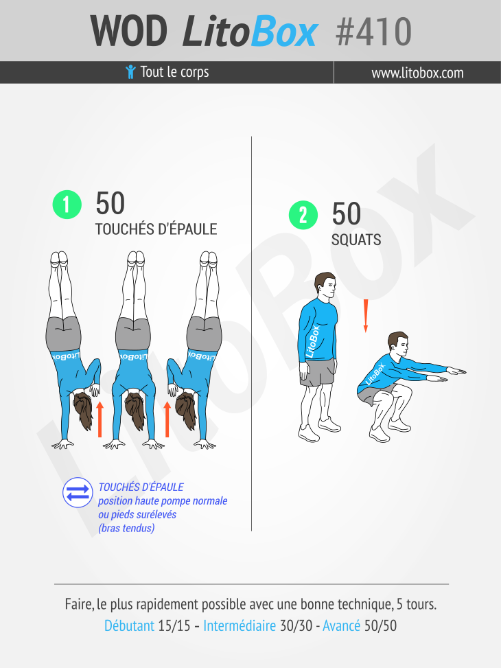 Musculation sans matériel : 2 exercices au poids du corps #410