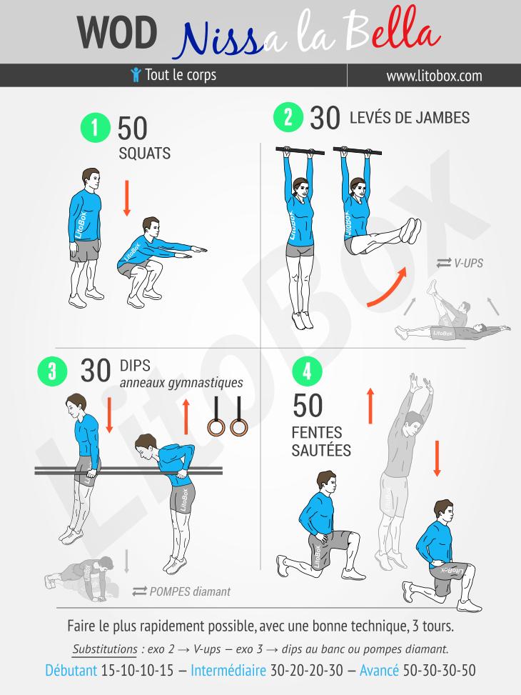 Wod nissa la bella 416 for Exercice de musculation chez soi