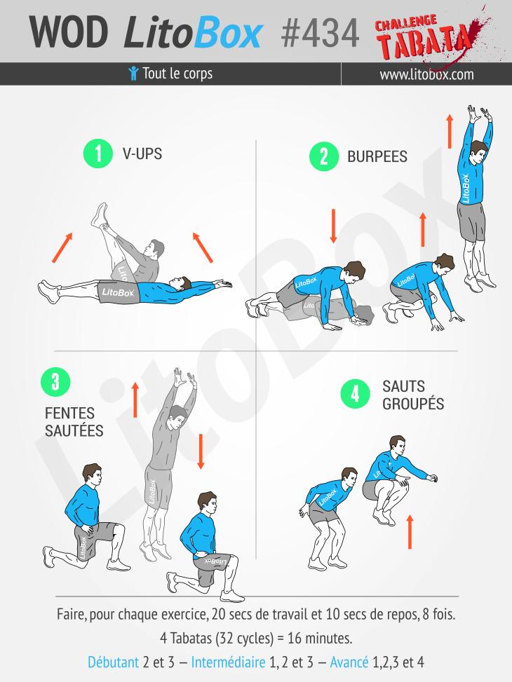 Exceptionnel Programme Tabata (musculation et cardio) pour femme et homme #434 FJ63
