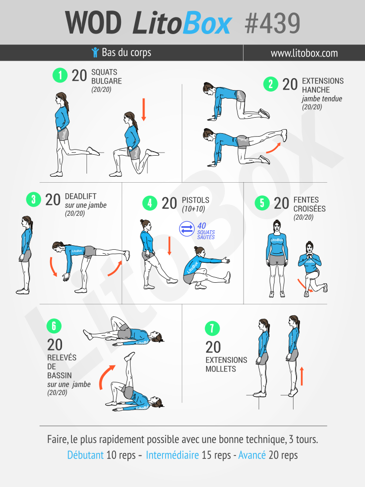 Programme sans matériel pour muscler les jambes #439