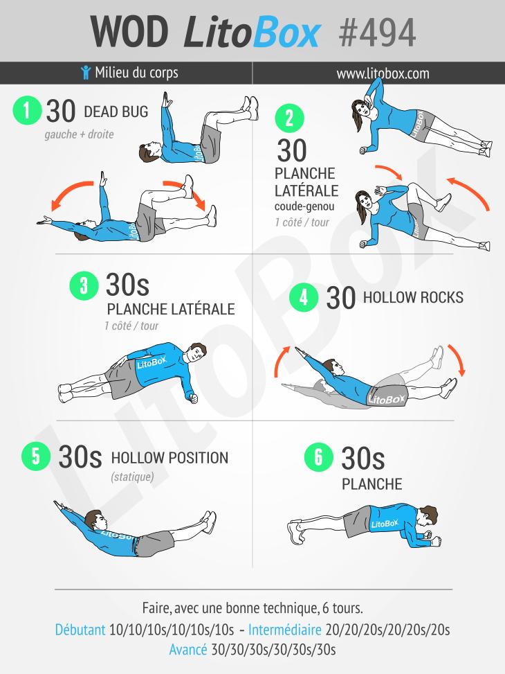 Exercices de gainage pour une ceinture abdominale tonique #494