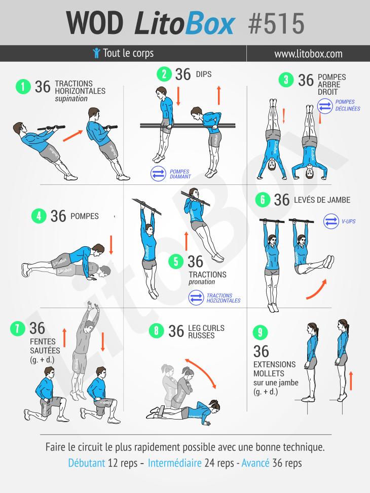 Muscler tout son corps avec des exercices au poids du corps #515