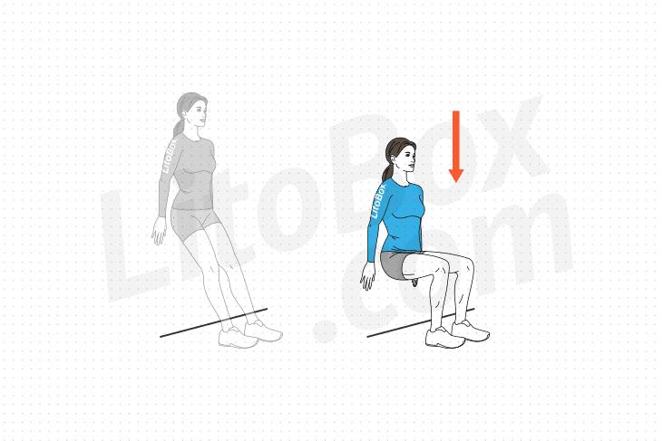 Exercice de la chaise