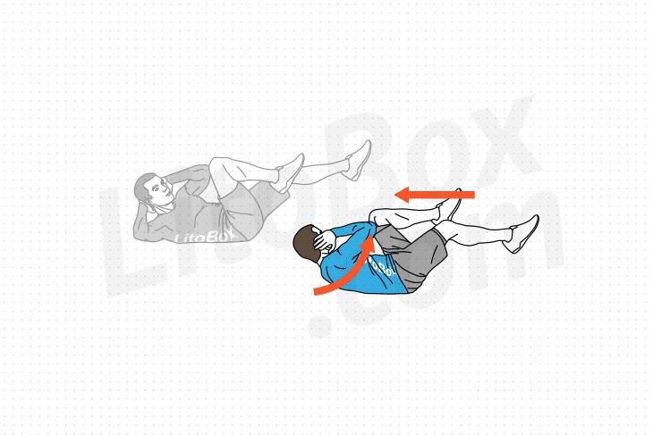 exercice abdominaux coude genou croisés