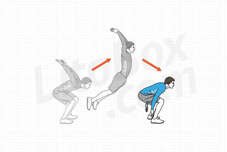saut de grenouille avant exercice