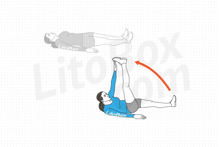 exercice V-up alterné