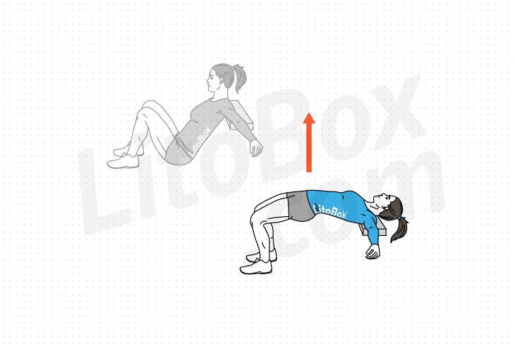 relevé de bassin épaules surélevées ou hip thrust