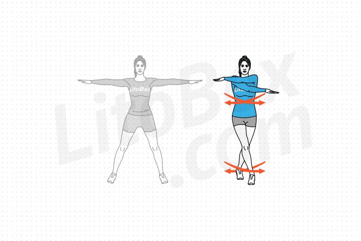 jumping jack croisé ou X-jack