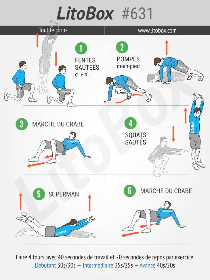 séance 631 programme HIIT renforcement musculaire