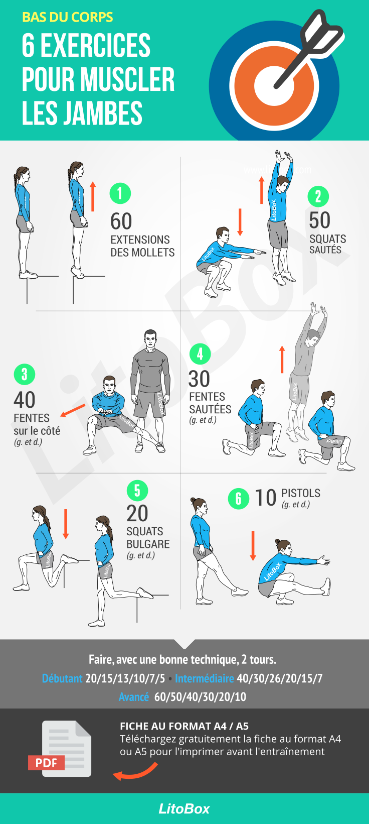 6 exercices sans matériel pour se muscler les jambes #451